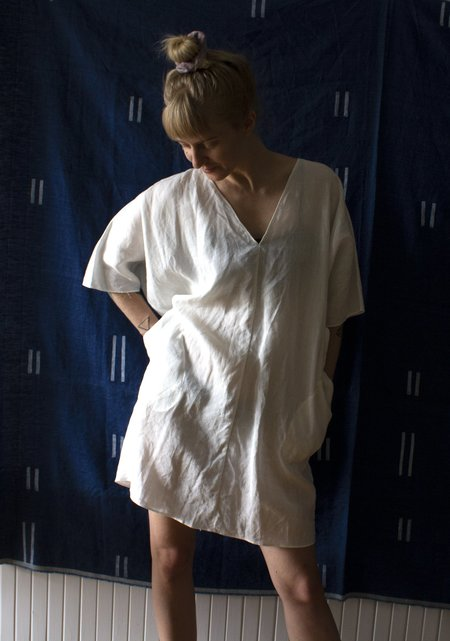 Rachel Craven Linen Short V-neck Caftan