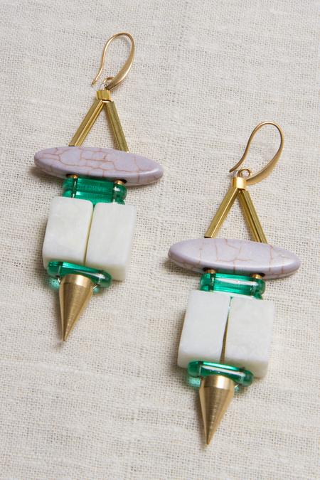 David Aubrey Double Block Earrings