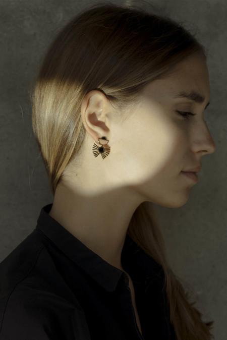 Anne Thomas Medusa Earrings - BLACK