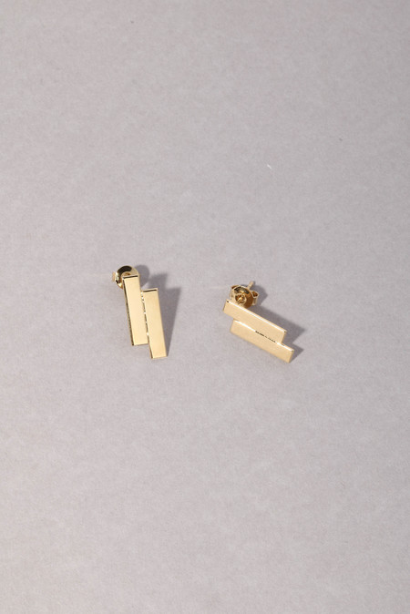 Anne Thomas Kasset Earrings - 18k Gold