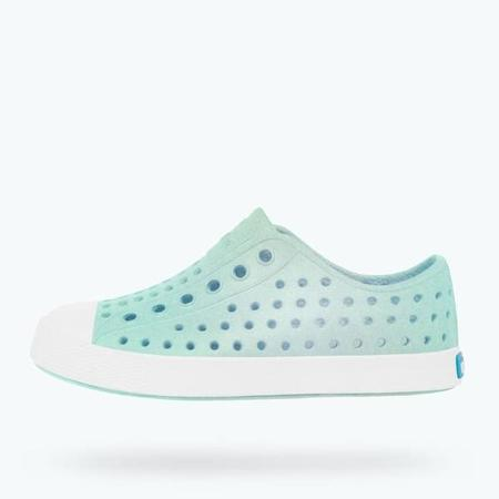Kids Native Shoes Jefferson Iridescent - Glass Green Galaxy
