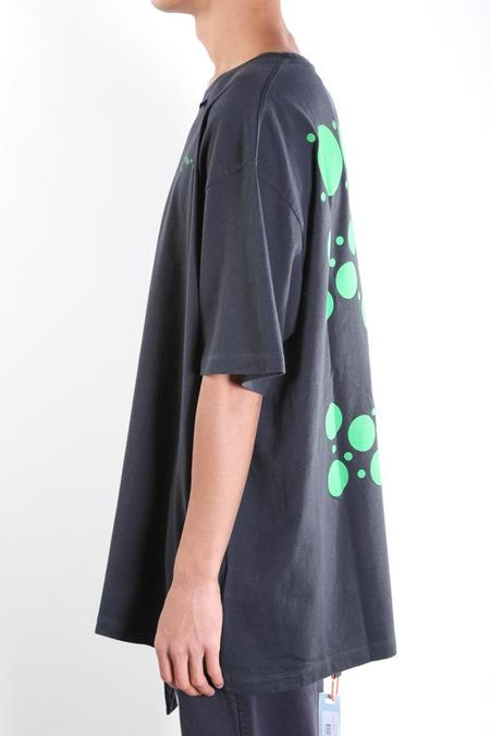Off-White Dots S/S Over Tee - black/green