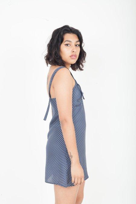 SIR the Label Emelie Slip Dress - Navy
