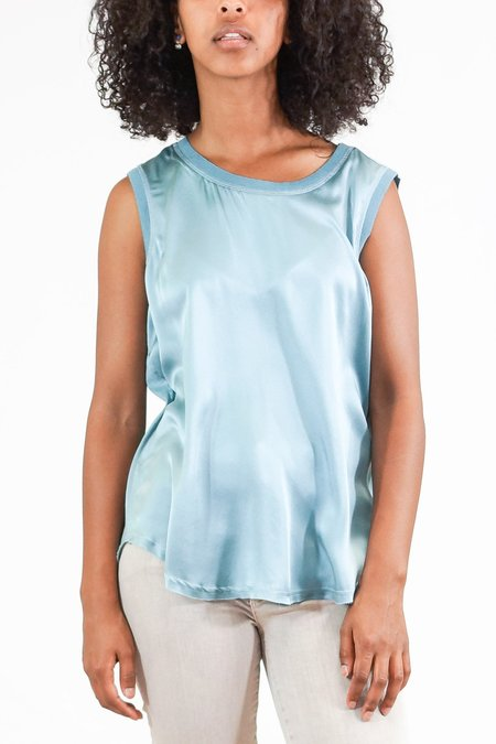 GOSILK Go Totally Biased Silk Tank Top - Sky