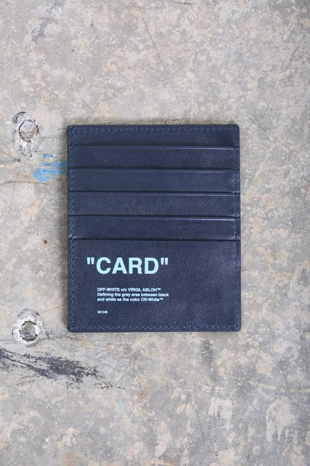 Off-White Quote Cardholder - blue