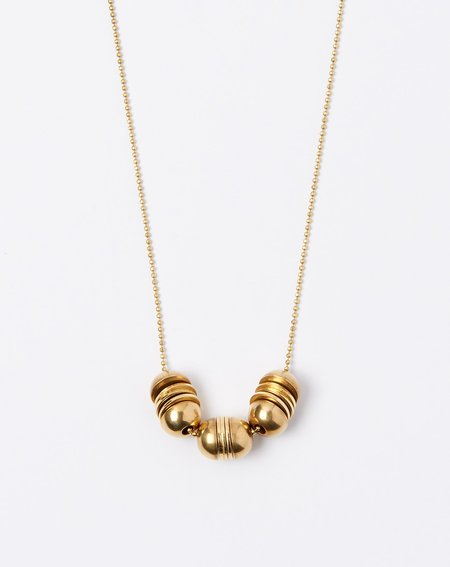 Ak Studio Watertide Necklace - Brass