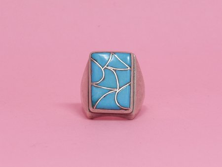 Queen City General Store Vintage Inlay Turquoise Ring