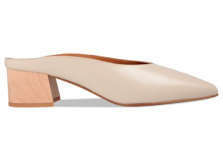 By Far Shoes Karen Leather Mule - Off-White