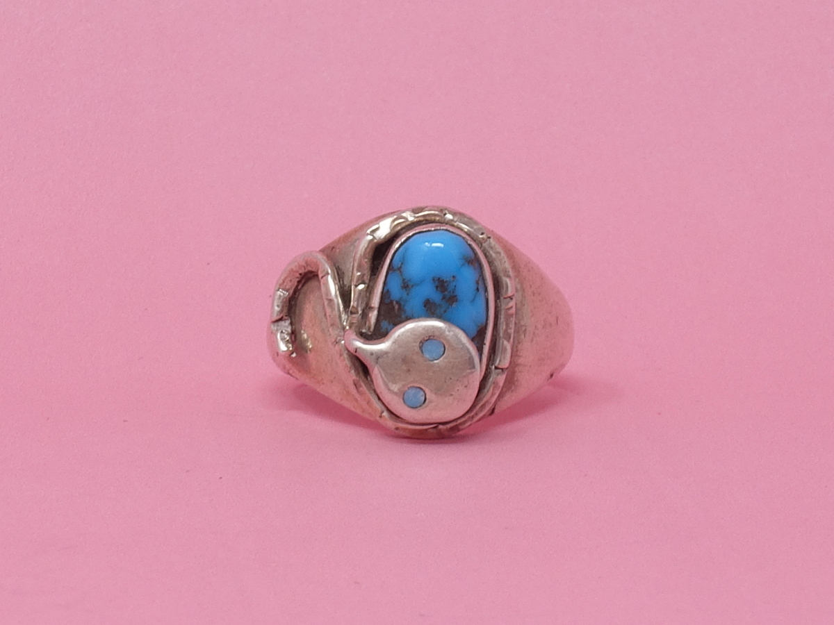 Queen City General Store VINTAGE Turquoise Snake Ring | Garmentory
