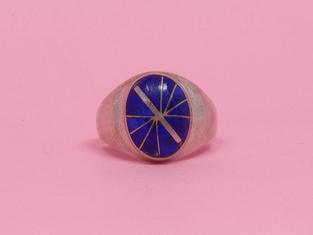 Queen City General Store Vintage Lapis Inlay Ring
