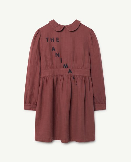 Kids The Animals Observatory Canary Dress - maroon
