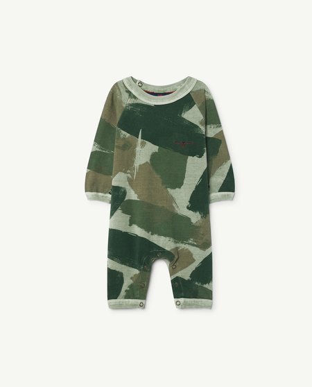 Kids Unisex The Animals Observatory Owl One-Piece - Green Camouflage
