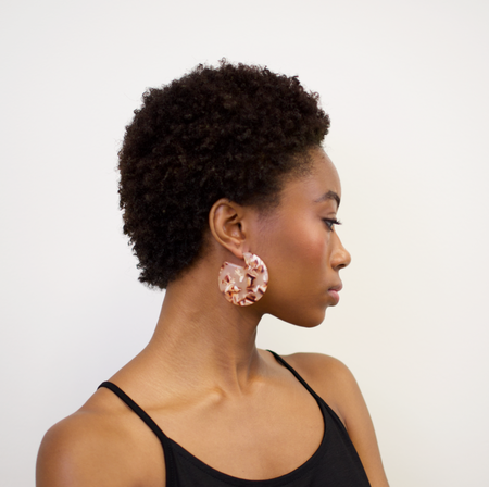 Machete Clare Earrings - Blush Tortoise