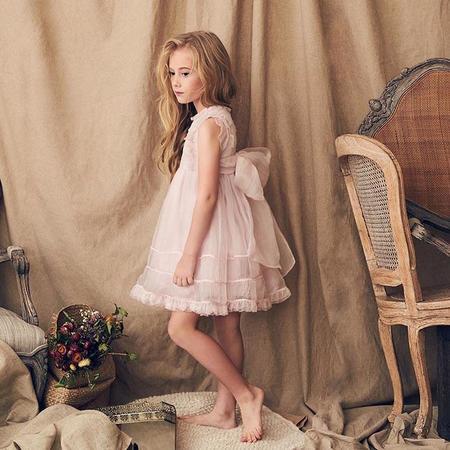 KIDS Love By Nellystella Flora Dress - Pink Orchid Ice