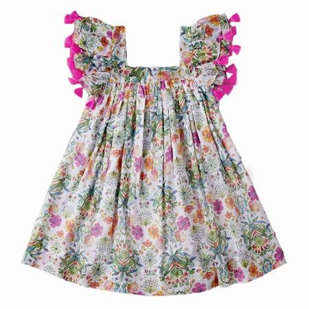 KIDS Nellystella Chloe Dress - Summer Floral Pink