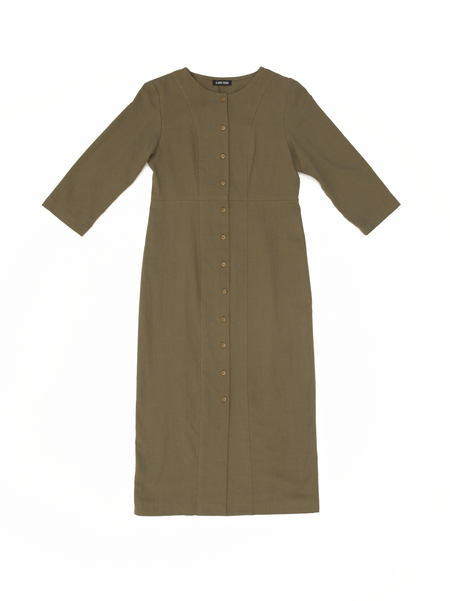 Ilana Kohn Rose Dress in Umber Twill