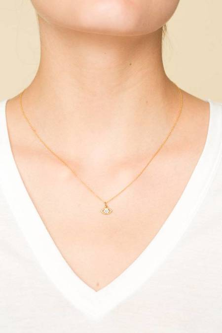 Ileana Makri Mini Eye Necklace - GOLD