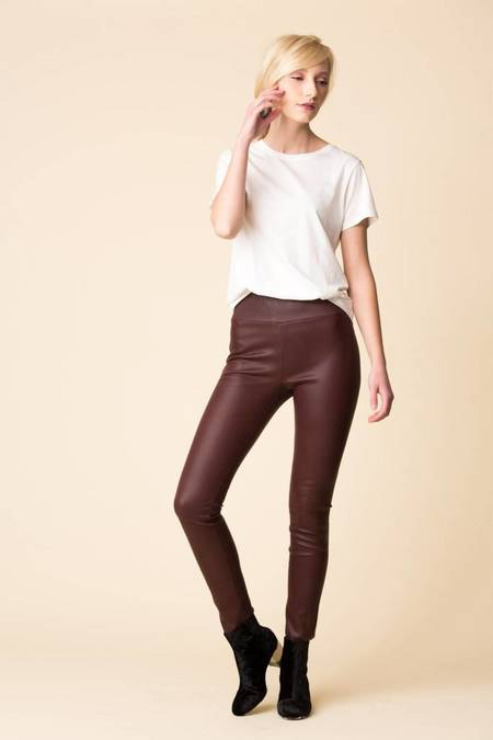 SPRWMN Leather Leggings - Plum