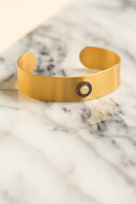 Ileana Makri Galaxy Sun Cuff - Gold Plated/Oxidation