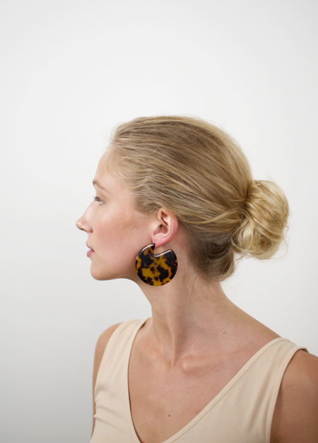 Machete Clare Earrings - Tortoise
