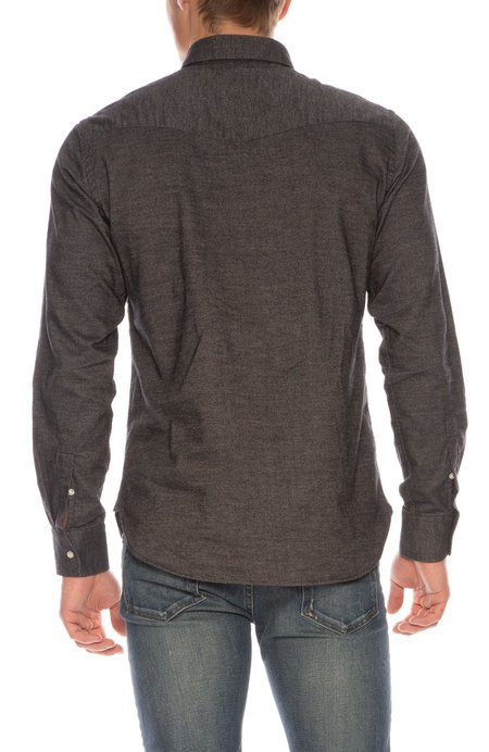 Officine Generale Brushed Cotton Oxford Button-Front Shirt - GRAY