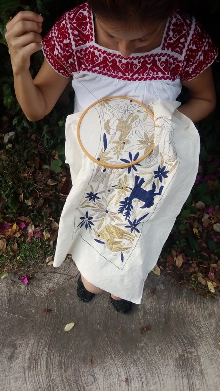 Boutique Mexico Otomi Holiday Stocking