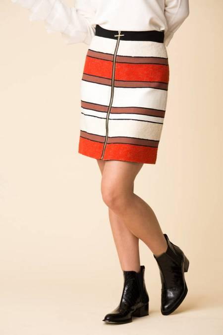 Derek Lam A-Line Mini Skirt - Poppy Pop
