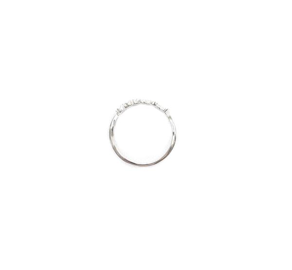 E.M. Silver Textured Cursive Love Ring