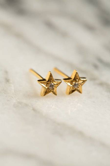 Ileana Makri Mini Star Studs - GOLD PLATED