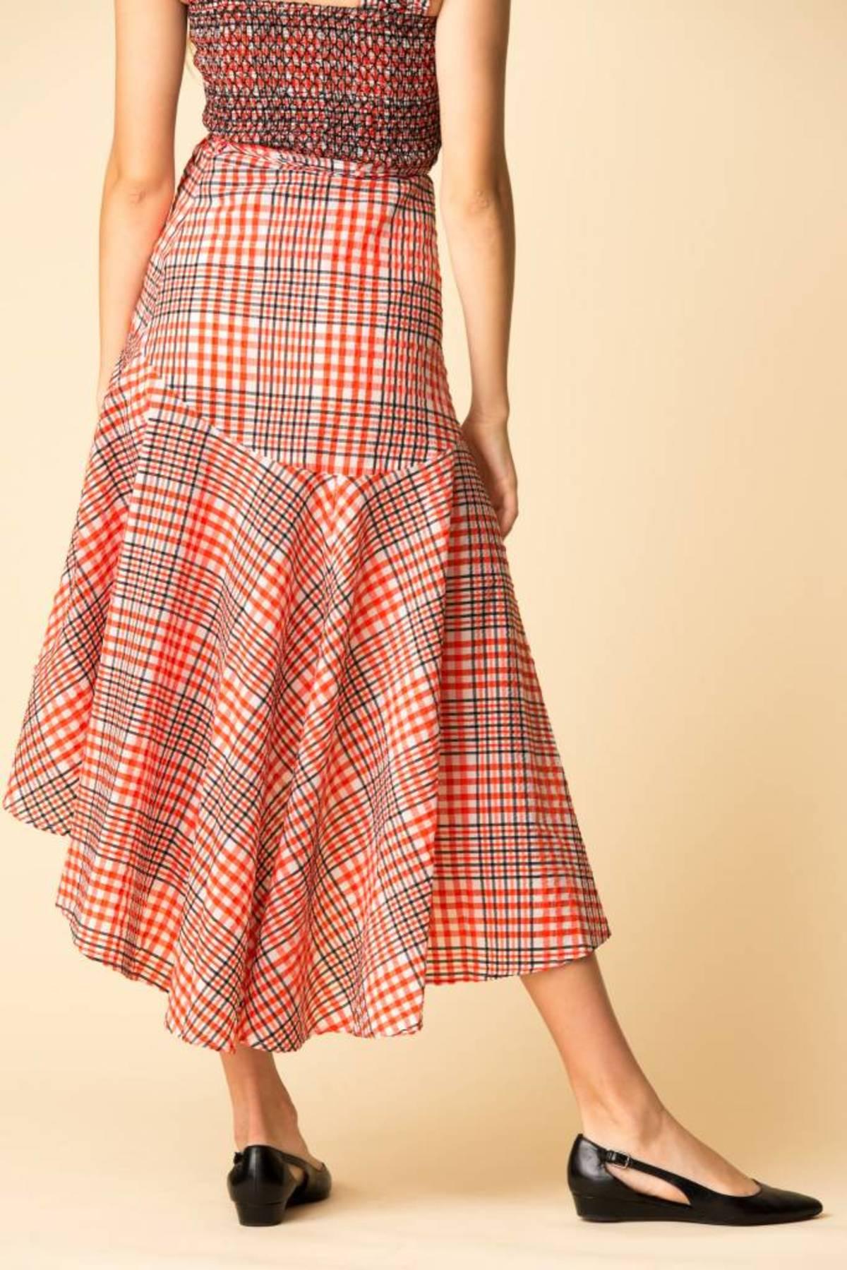 fea0a2915b Ganni Charron Wrap Skirt - BIG APPLE RED | Garmentory
