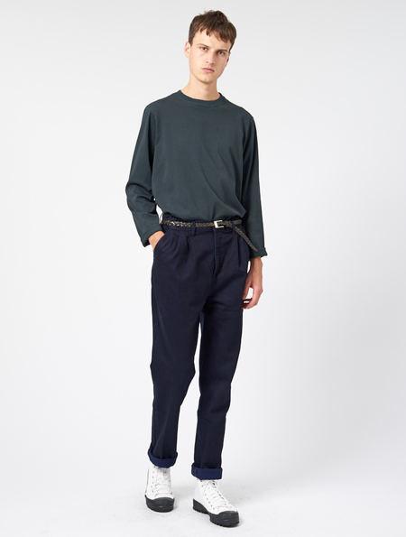 Other Edward Pleat Trouser - Blue/Black