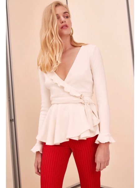 C/MEO COLLECTIVE A Little More Top - WHITE