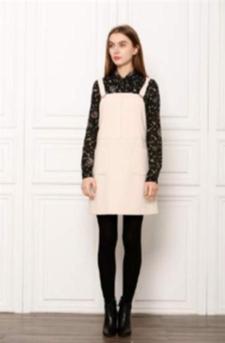 See U Soon Autumn Babe Pinafore Dress - Beige