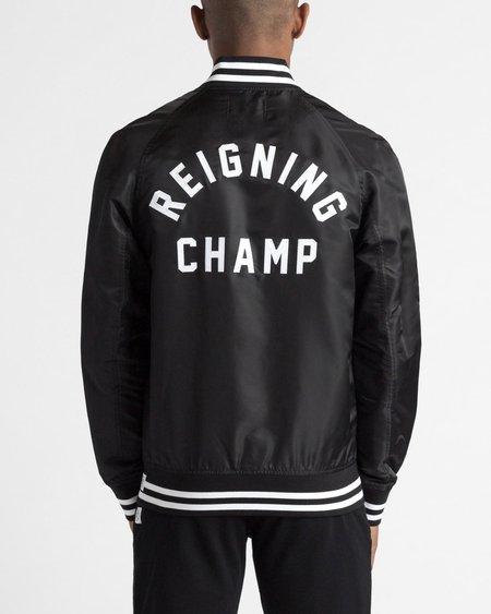 Reigning Champ Satin Embroidered Stadium Jacket