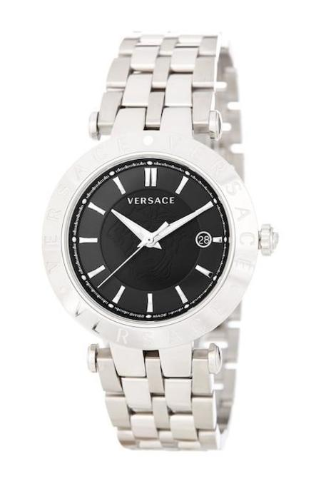 Versace V-Race Watch - Silver/Black