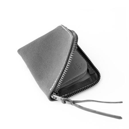MAKR Canvas Zip Slim Wallet - Charcoal