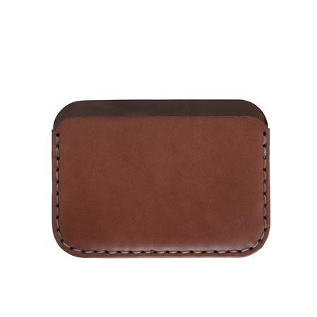 MAKR Round Wallet - SADDLE TAN