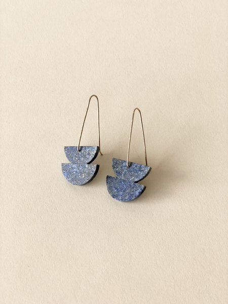 ALISON JEAN COLE Double Stone Earrings - Lapis