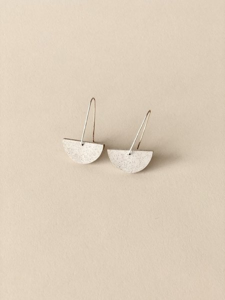 ALISON JEAN COLE Single Stone Earrings - Fossil Volcano Ash
