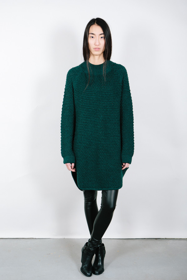 Ali Golden Oversized Sweater Dress