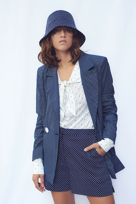 N-DUO dotted blazer - Navy