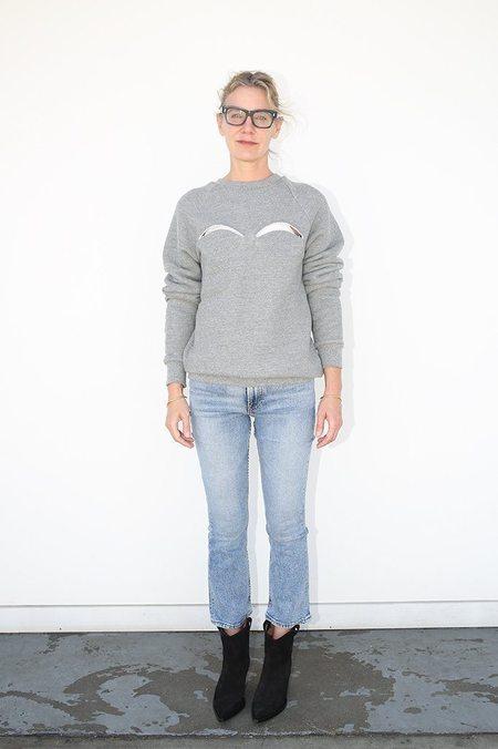 maison margiela Melange Fleece Sweatshirt - Melange Grey