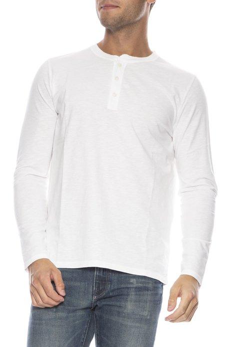 Hartford Long Sleeve Henley - WHITE
