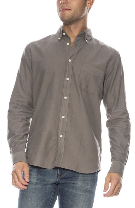 Hartford Paul Pat Heather Flannel Button Down Shirt - FLANNEL