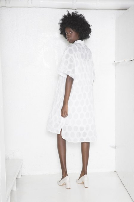 """INTENTIONALLY __________."" KWAL Dress - White Dot"