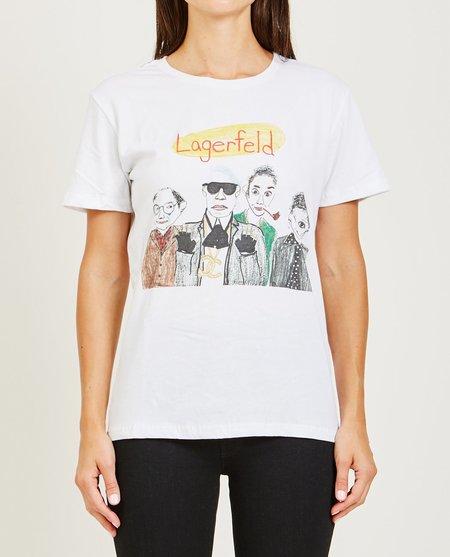 Unfortunate Portrait Lagerfeld Tee - White