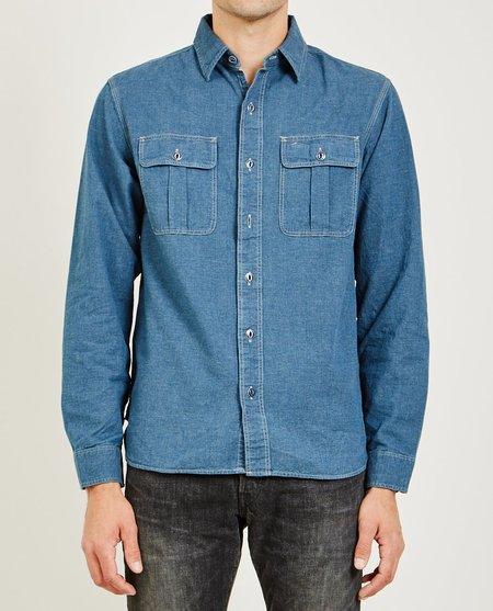 RRL Olson WS Sport Shirt - Blue