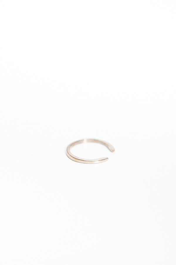 Upper Metal Class Truth Cuff Ring