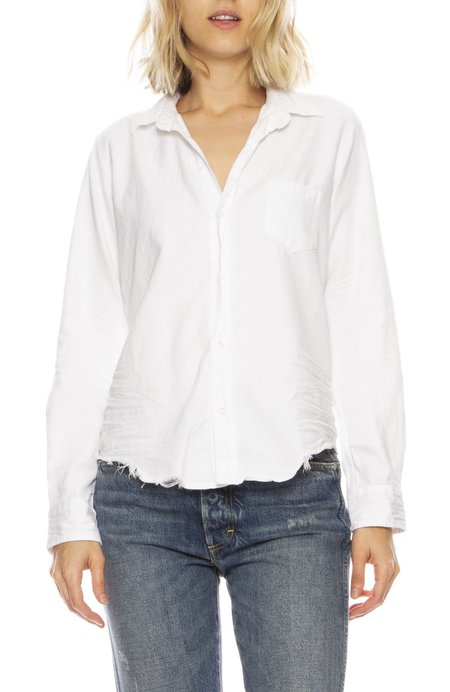 Frank & Eileen Barry Stonewashed Shirt - WHITE
