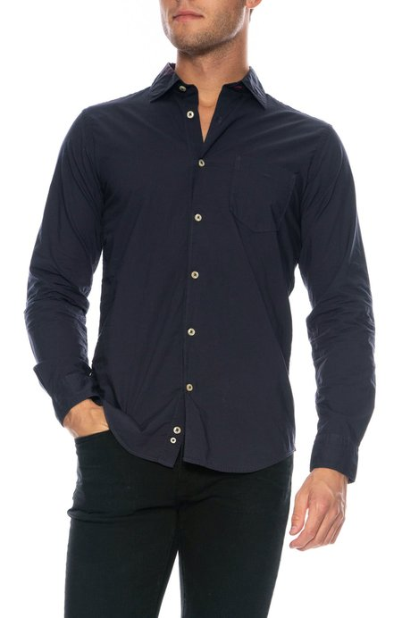 TODAY IS BEAUTIFUL x RON HERMAN Washed Button Down Shirt - NAVY